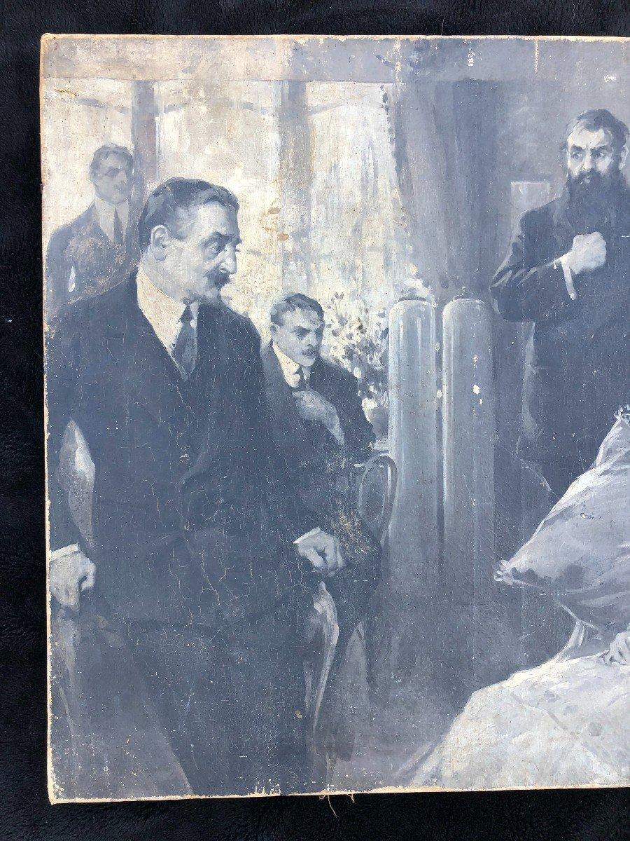 Peinture - Huile Sur Toile école Russe Vers 1900-photo-2