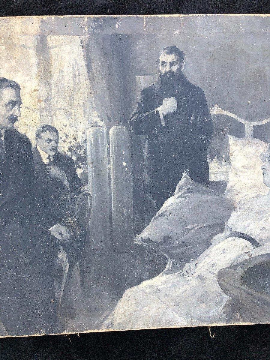 Peinture - Huile Sur Toile école Russe Vers 1900-photo-3