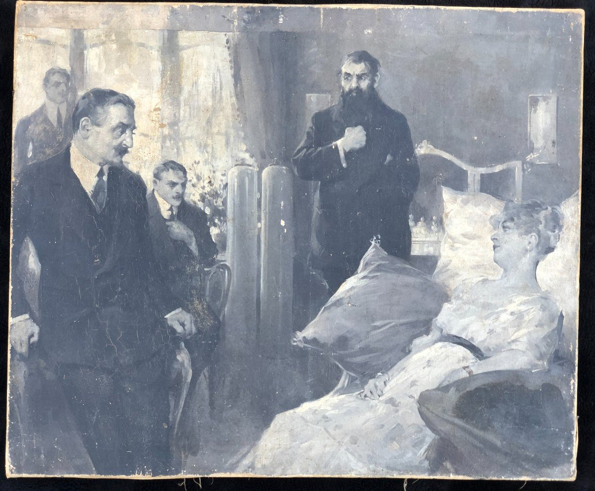 Peinture - Huile Sur Toile école Russe Vers 1900-photo-4