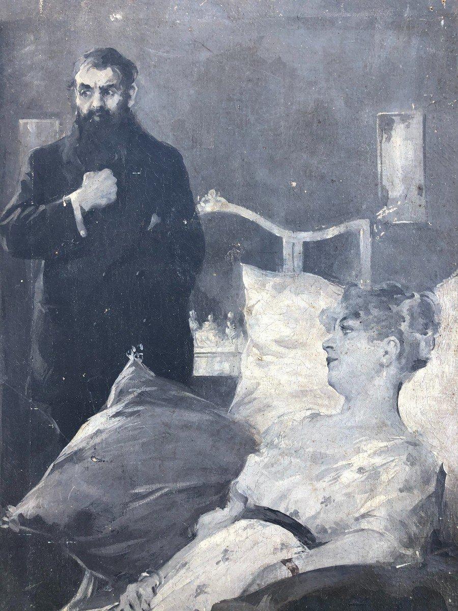 Peinture - Huile Sur Toile école Russe Vers 1900-photo-5