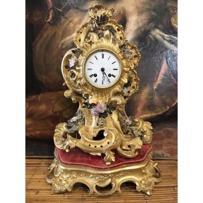 Pendule Rocaille Style Louis XV époque Napoléon III