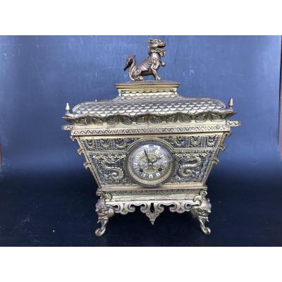Chinese Bronze Pendulum Nineteenth