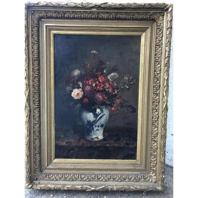 At . Gilson - Still Life With Bouquet Of Flowers