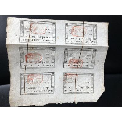 Mandat Territoriaux - 6 X 5 Francs 1796