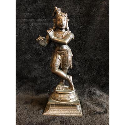 Ancienne Statuette De Shiva En Bronze XIXéme