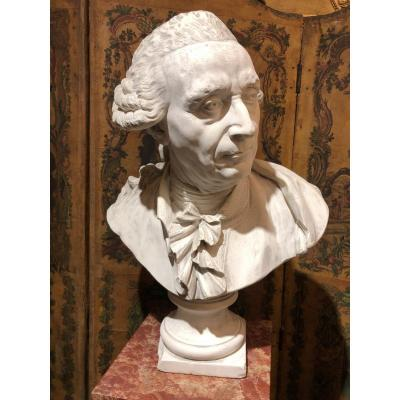 Workshop Bust In Plaster - Contemporary Of Louis XVI