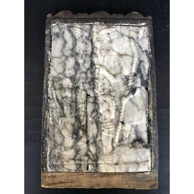 Plaque Albâtre - Malines - Le Baptême Du Christ époque XVIIéme