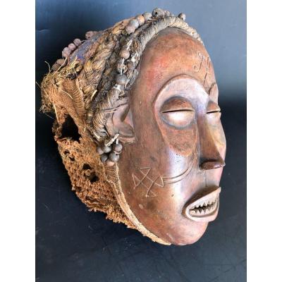 ancien Masque De Dance Tchokwe