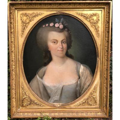 Armand-jean Pallière (1784-1862) - Portrait De Femme