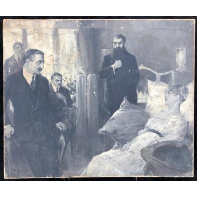 Peinture - Huile Sur Toile école Russe Vers 1900