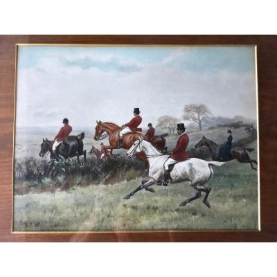 Thomas Blink (1860-1912) - Hunting Hunting N ° 2