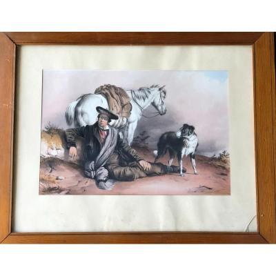 Thomas Sidney Cooper (1803-1902) - Le Repos - Watercolor Gouaché