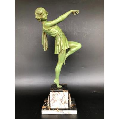 Art Deco Dancer Sculpture By Emile Carlier