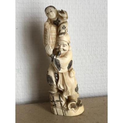 Okimono - Ivory Japan XXth