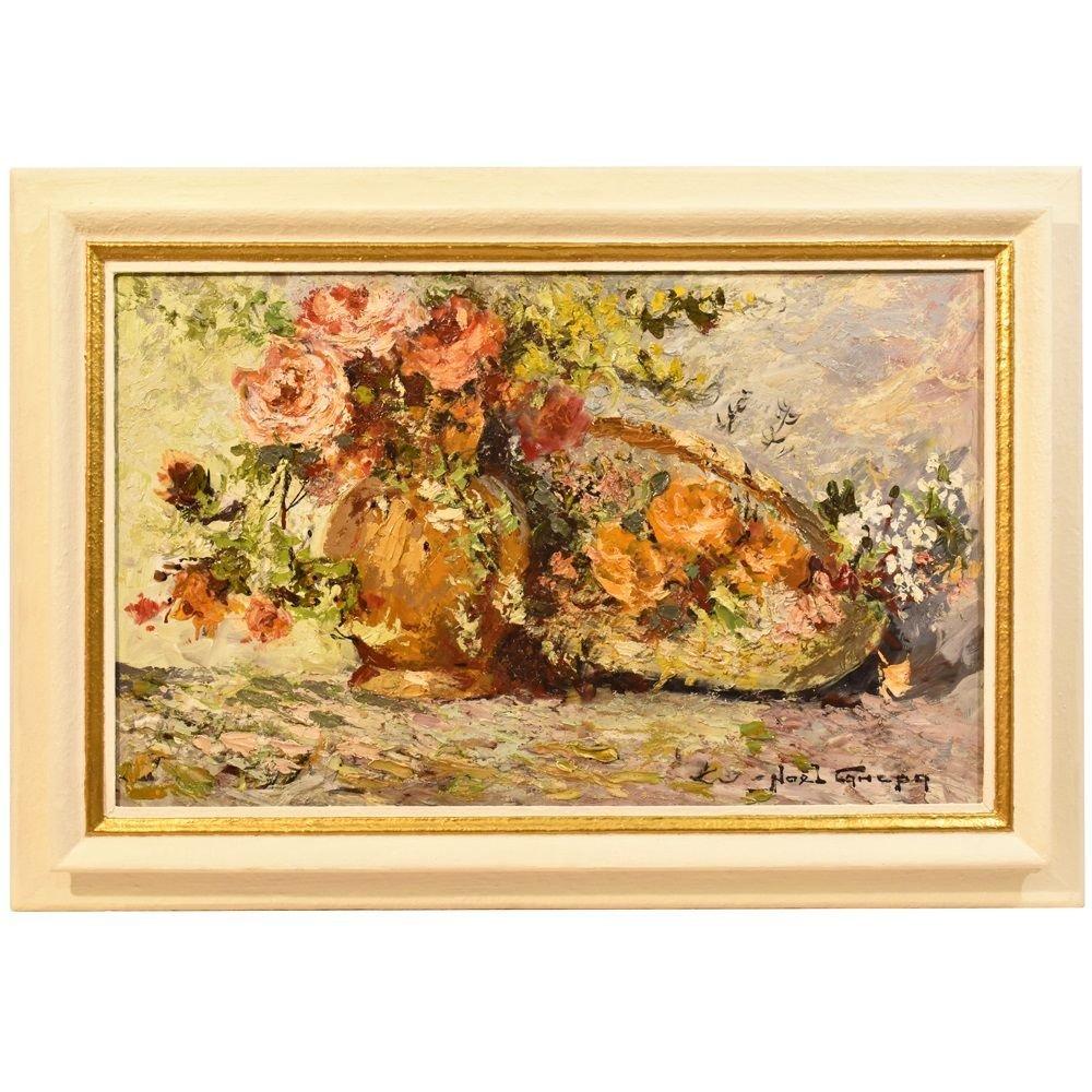 Composition De Fleurs,  Roses Noel Canepa (XIX-XX).  (QF207)