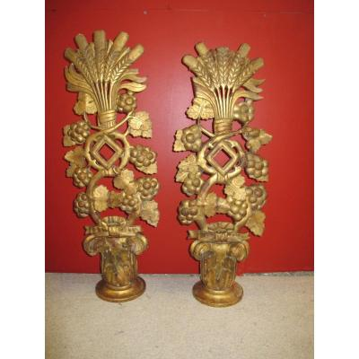 Pair Of Golden Wood XVIII