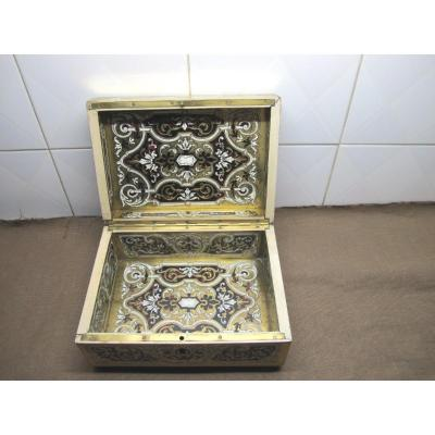 Box In Boulle Marquetry  1850-1870