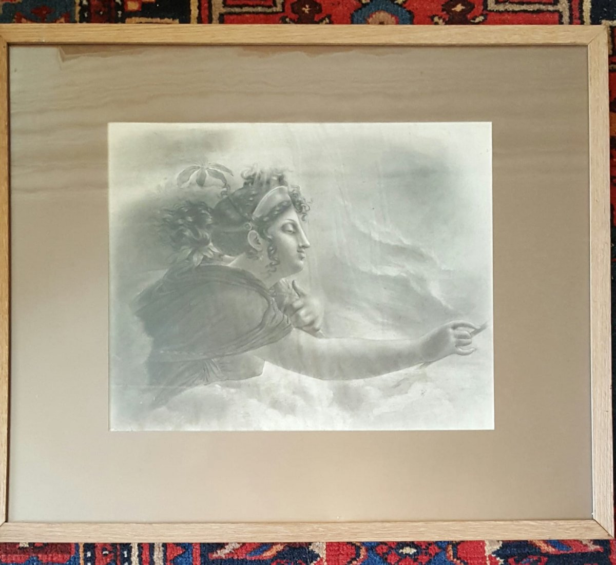 Drawing Mythological Subject By Couperin De La Couperie