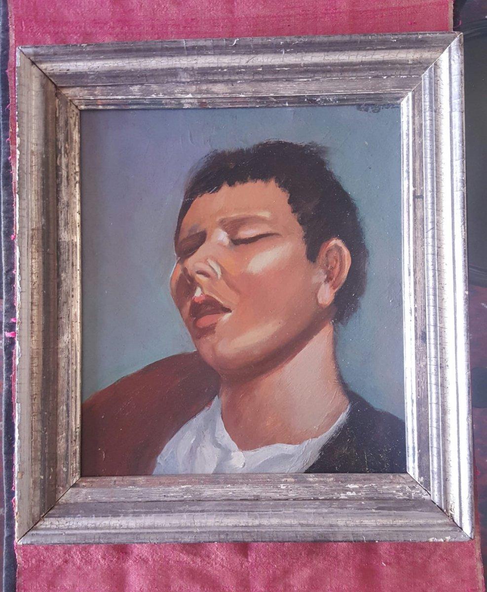 Portrait Of Young Boy - Léopold Reigner
