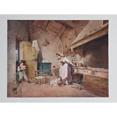 Watercolor By Cesare Provaggi