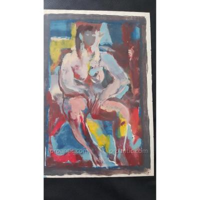 Oil On Paper By Leo Reigner