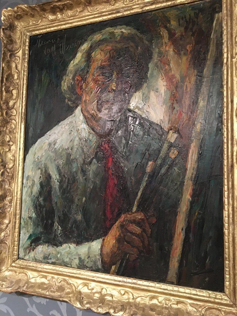 "Oil On Canvas De Maurice Vagh Weinmann ""self-portrait"""
