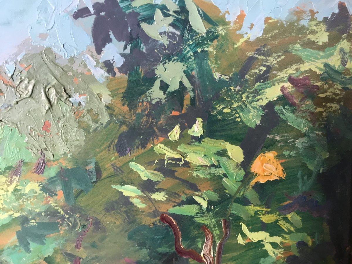 Oil On Panel By Lucien Jonas-photo-1