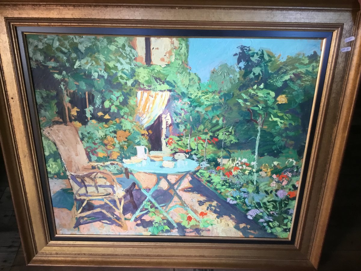 Oil On Panel By Lucien Jonas