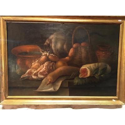 H.S.T. Nature Morte « Aux Chats », fin 17ième siècle