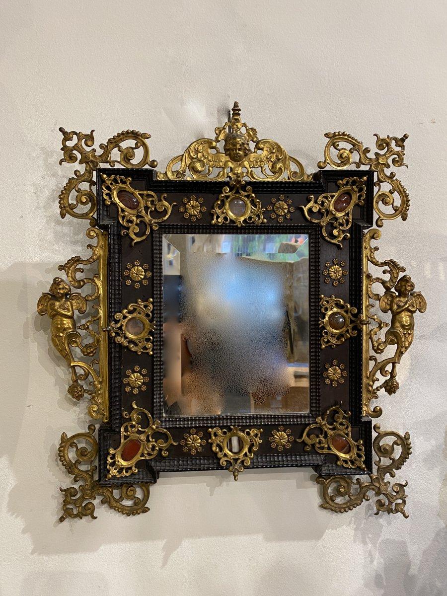 Petit Miroir Italien Du  XIXème