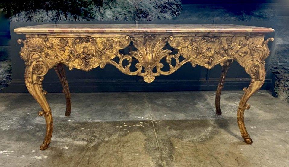 Grande table de milieu d'époque Régence