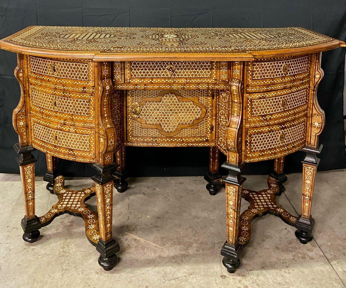 Mazarin Bureau Marquetry, Italy, XVIIIth Century