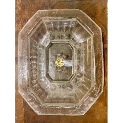 Dish In Godrons In Glass From Venice, XVIIIth Century