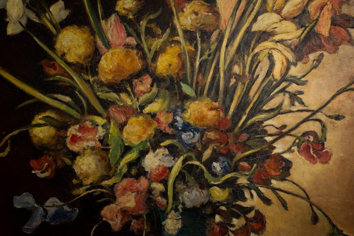 František Michl,  peintre tchèque 1935 ..  grande huile sur toile signée  .