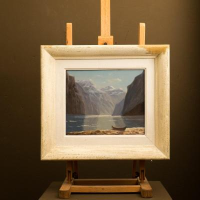 paysage de montagne . le lac  ..