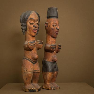 rare . anciennes poupées Ibibio - Nigéria - Art africain ..