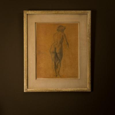 Fernand Hertenberger July 1942 - Nude .. Pencil On Paper .  Signed ..