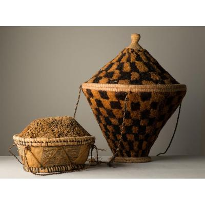 Baskets . Basketry Of Africa .. Congo, Pende And Kuba ..