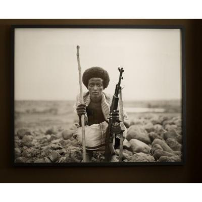 Thomas Chable . important portrait afar . Ethiopie ..