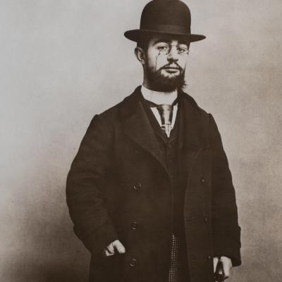 Maurice Guibert - Large Vintage Portrait Of Henri De Toulouse-lautrec .. Rare