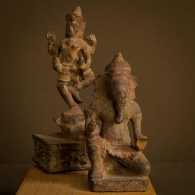 Art Khmers - Ganesh - Vishnu -  Cambodge  ..   époque Xème - XIIIème S.