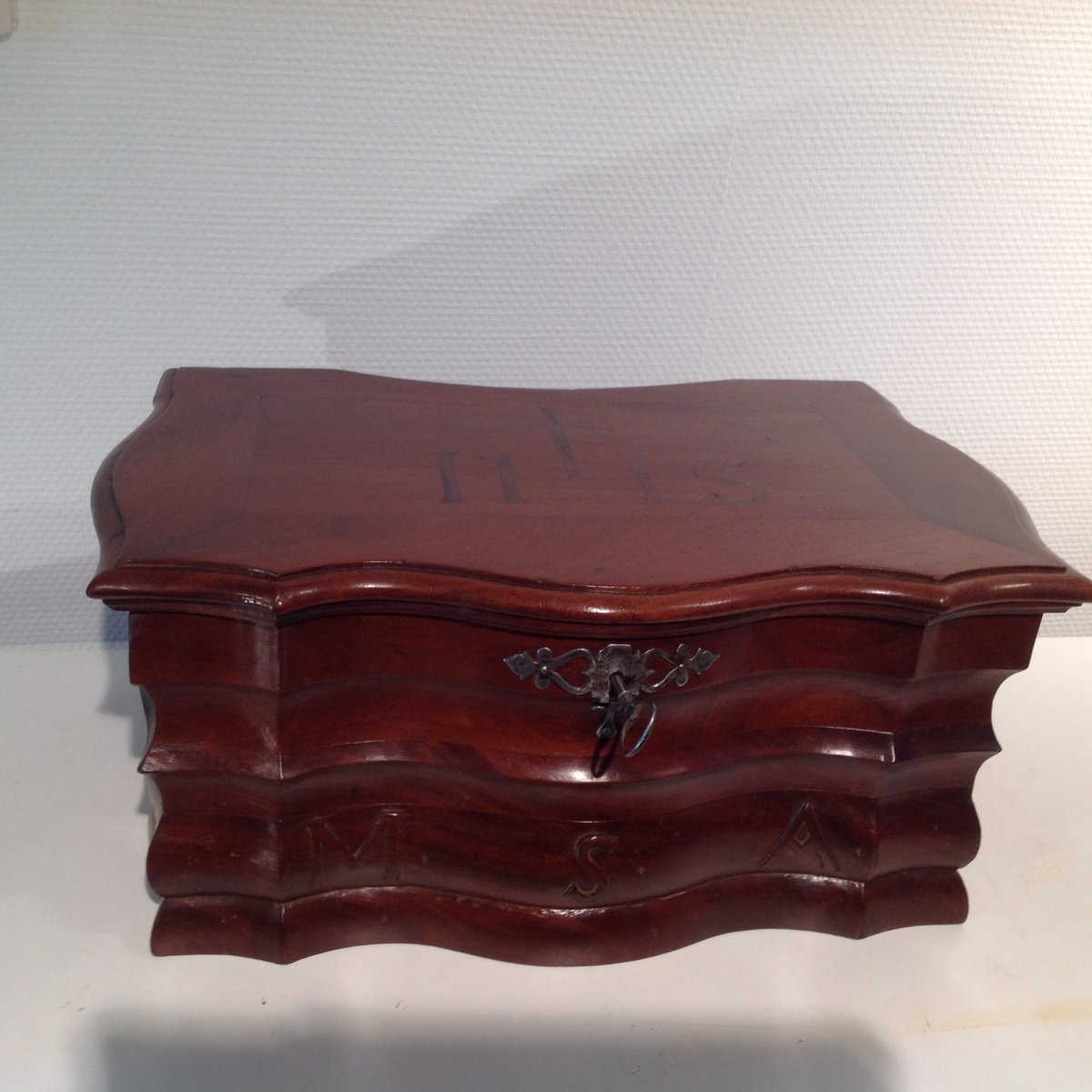Box D Louis XIV Mahogany Port Work