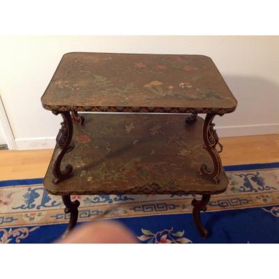 European Lacquer Tea Table With Japanese Style 1900