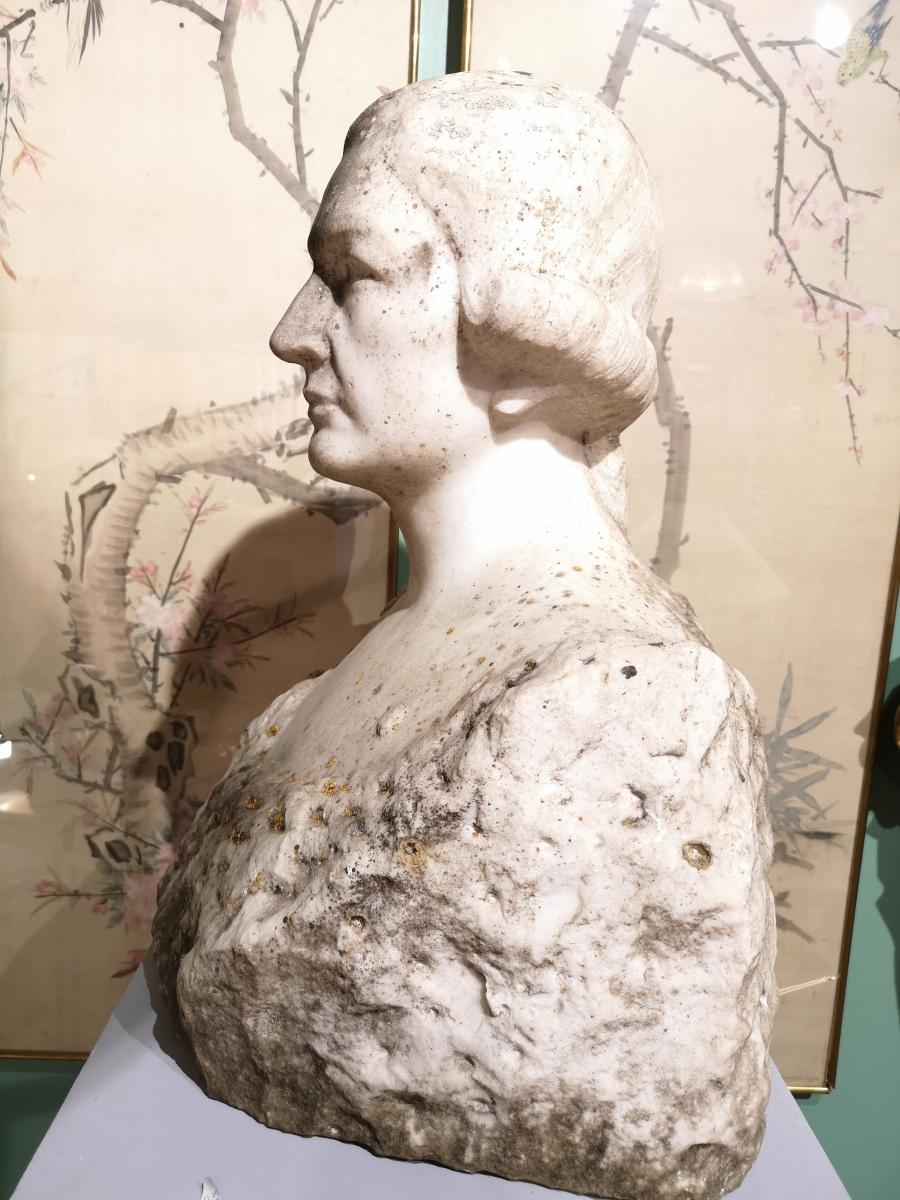 Marble Man Bust Early 19th