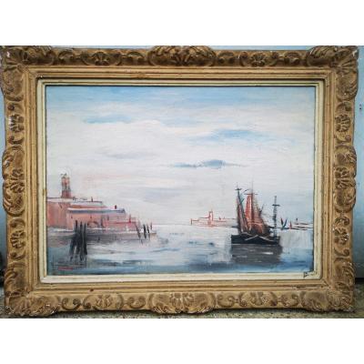 Huile Sur Toile Venise