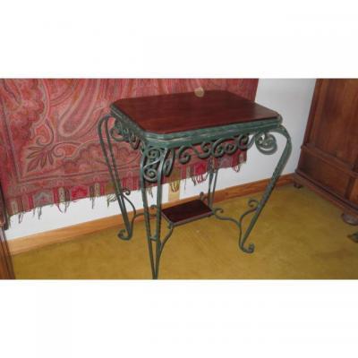 Table Guéridon En Fer Forgé