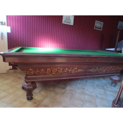 French Billiards, Inlaid, Nineteenth
