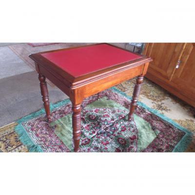 Bureau, table à écrire Louis Philippe en noyer
