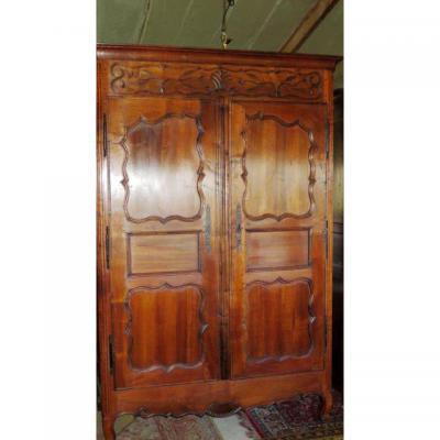 Portes d'armoire Louis XV En Noyer