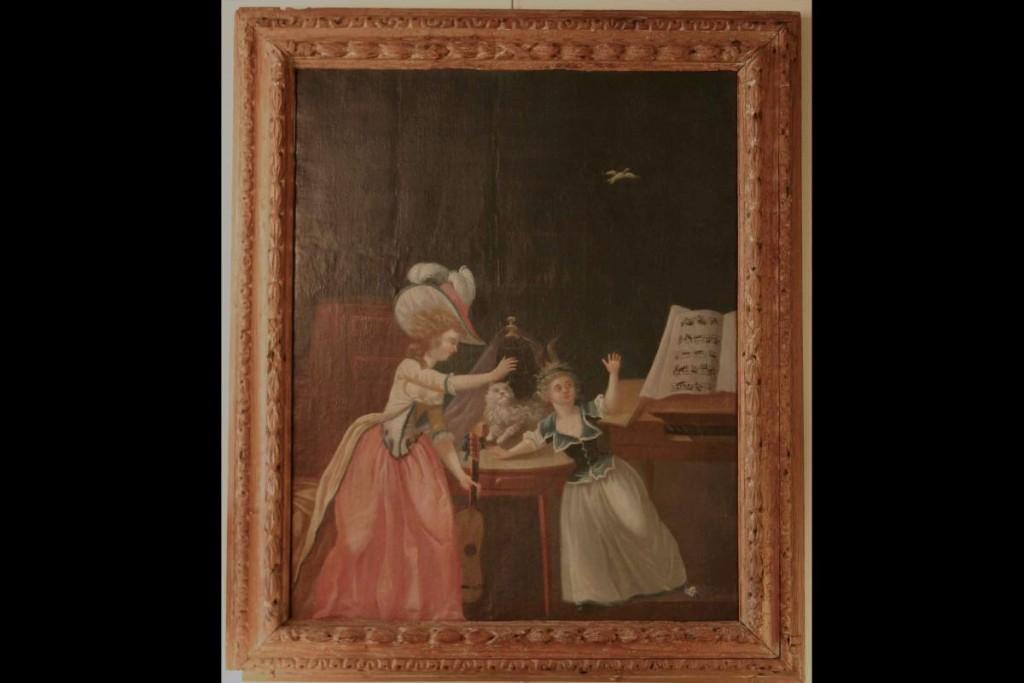 Huile Sur Toile XVIIIème siècle, & Cadre d'époque Louis XIV